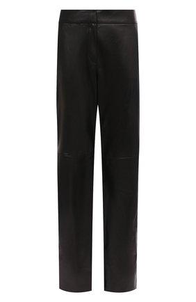 Женские кожаные брюки DROME черного цвета, арт. DPD1977/D400 | Фото 1