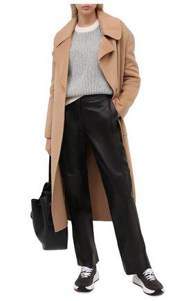 Женские кожаные брюки DROME черного цвета, арт. DPD1977/D400 | Фото 2
