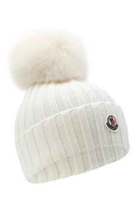 Женский шерстяная шапка MONCLER белого цвета, арт. F2-093-3B702-01-A9327 | Фото 1