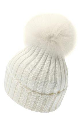 Женский шерстяная шапка MONCLER белого цвета, арт. F2-093-3B702-01-A9327 | Фото 2