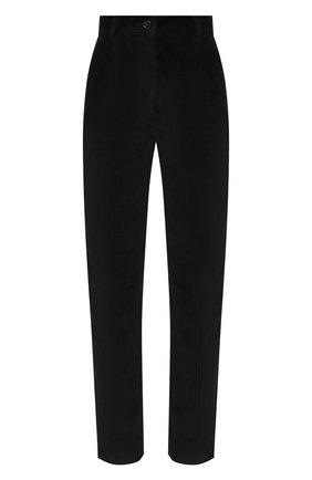 Женские хлопковые брюки DOLCE & GABBANA черного цвета, арт. FTAM2T/FUWCV | Фото 1