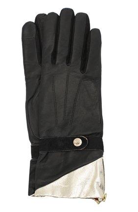 Женские кожаные перчатки AGNELLE черного цвета, арт. ALICE_BALAS/A | Фото 1