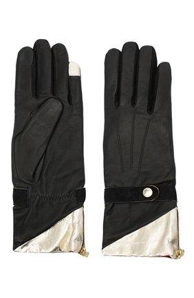 Женские кожаные перчатки AGNELLE черного цвета, арт. ALICE_BALAS/A | Фото 2