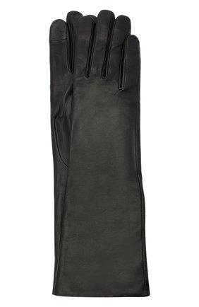 Женские кожаные перчатки AGNELLE черного цвета, арт. CELIA/A | Фото 1