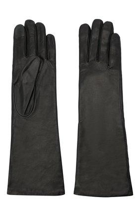 Женские кожаные перчатки AGNELLE черного цвета, арт. CELIA/A | Фото 2