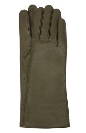 Женские кожаные перчатки AGNELLE хаки цвета, арт. CHRISTINA/C100 | Фото 1