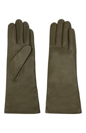 Женские кожаные перчатки AGNELLE хаки цвета, арт. CHRISTINA/C100 | Фото 2