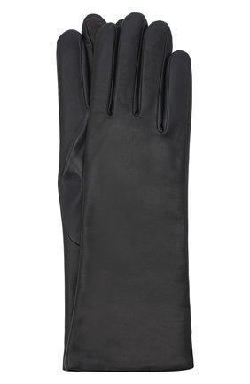 Женские кожаные перчатки AGNELLE темно-синего цвета, арт. CHRISTINA/C100 | Фото 1