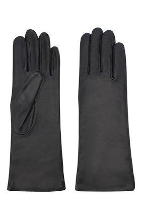 Женские кожаные перчатки AGNELLE темно-синего цвета, арт. CHRISTINA/C100 | Фото 2