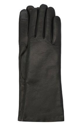 Женские кожаные перчатки AGNELLE черного цвета, арт. CHRISTINA/C100 | Фото 1