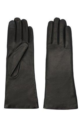 Женские кожаные перчатки AGNELLE черного цвета, арт. CHRISTINA/C100 | Фото 2