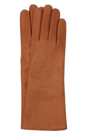 Женские кожаные перчатки AGNELLE коричневого цвета, арт. CHRISTINA/C100 | Фото 1