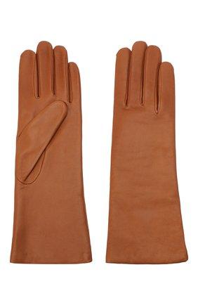 Женские кожаные перчатки AGNELLE коричневого цвета, арт. CHRISTINA/C100 | Фото 2