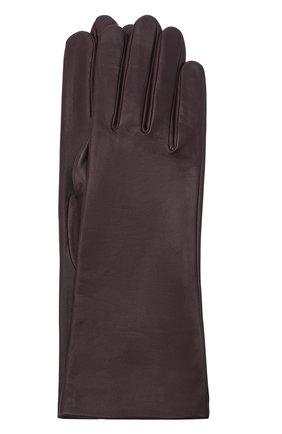 Женские кожаные перчатки AGNELLE фиолетового цвета, арт. CHRISTINA/S | Фото 1