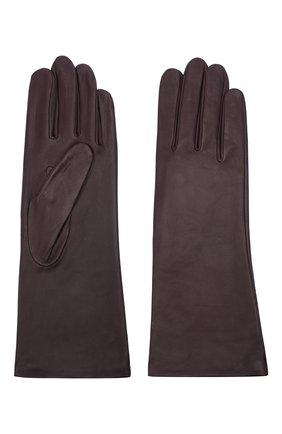 Женские кожаные перчатки AGNELLE фиолетового цвета, арт. CHRISTINA/S | Фото 2