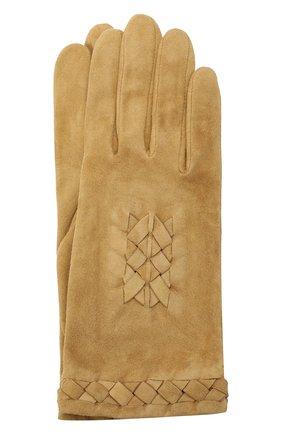 Женские замшевые перчатки AGNELLE светло-коричневого цвета, арт. HEDY/S | Фото 1