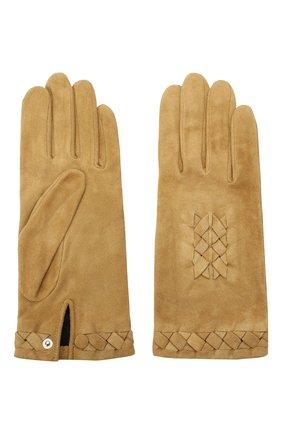 Женские замшевые перчатки AGNELLE светло-коричневого цвета, арт. HEDY/S | Фото 2