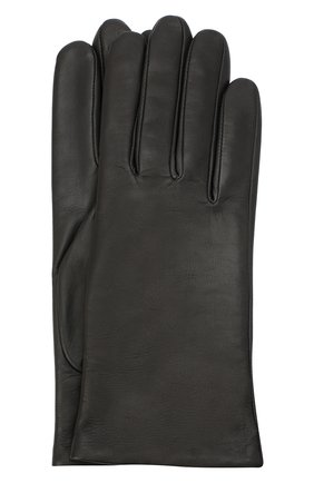 Женские кожаные перчатки AGNELLE темно-серого цвета, арт. INES/A | Фото 1