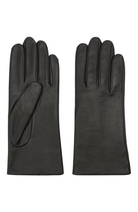 Женские кожаные перчатки AGNELLE темно-серого цвета, арт. INES/A | Фото 2
