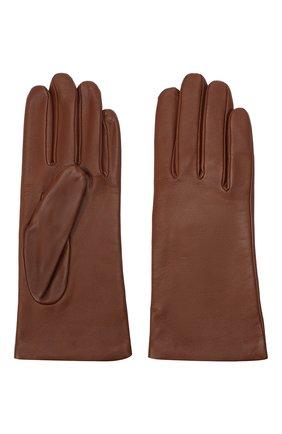 Женские кожаные перчатки AGNELLE коричневого цвета, арт. INES/A | Фото 2