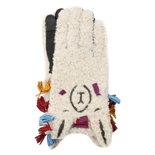 Меховые перчатки Agnelle