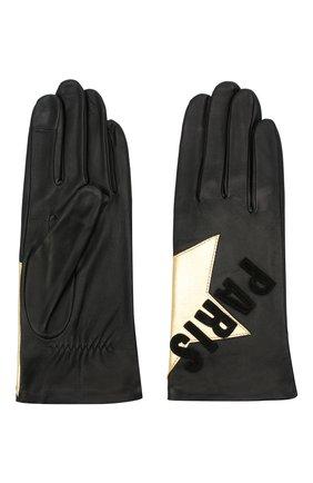 Женские кожаные перчатки AGNELLE черного цвета, арт. PARIS_STAR/S | Фото 2