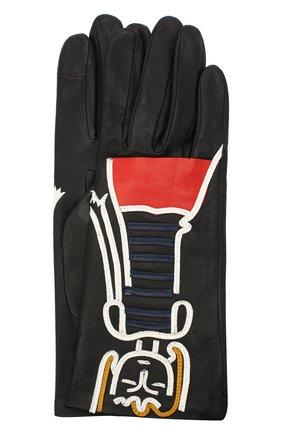 Женские кожаные перчатки AGNELLE черного цвета, арт. PREMIER_FLIRT | Фото 1