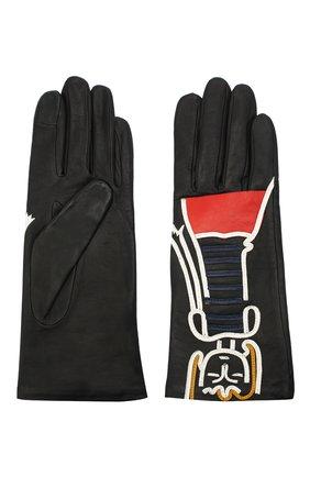 Женские кожаные перчатки AGNELLE черного цвета, арт. PREMIER_FLIRT | Фото 2