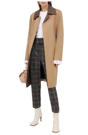 Женские шерстяные брюки BRUNELLO CUCINELLI коричневого цвета, арт. MB573P7476 | Фото 2