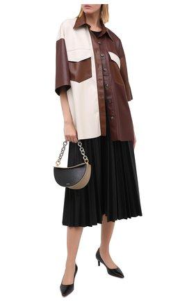 Женская кожаные туфли SANTONI черного цвета, арт. WDAM58910HA2NSZAN01   Фото 2