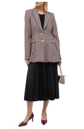 Женская кожаные туфли SANTONI бордового цвета, арт. WDAS58870HA2NSZAB70 | Фото 2