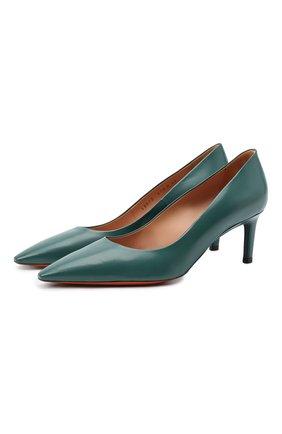 Женская кожаные туфли SANTONI зеленого цвета, арт. WDAS58870HA2NSZAV70 | Фото 1