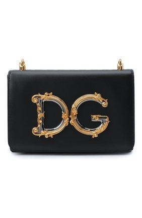 Женская сумка dg girls medium DOLCE & GABBANA черного цвета, арт. BB6912/AW576 | Фото 1