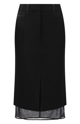 Женская шерстяная юбка TOM FORD черного цвета, арт. GC5509-FAX236 | Фото 1 (Длина Ж (юбки, платья, шорты): До колена; Материал подклада: Шелк; Материал внешний: Шерсть; Женское Кросс-КТ: Юбка-одежда, Юбка-карандаш)