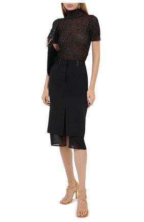 Женская шерстяная юбка TOM FORD черного цвета, арт. GC5509-FAX236 | Фото 2 (Длина Ж (юбки, платья, шорты): До колена; Материал подклада: Шелк; Материал внешний: Шерсть; Женское Кросс-КТ: Юбка-одежда, Юбка-карандаш)