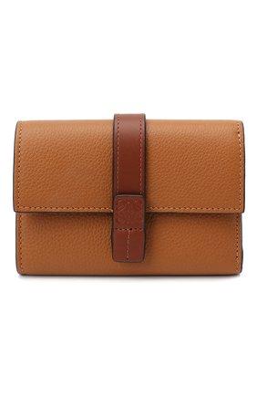 Женские кожаное портмоне LOEWE коричневого цвета, арт. 124.12.S86   Фото 1