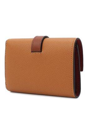 Женские кожаное портмоне LOEWE коричневого цвета, арт. 124.12.S86   Фото 2
