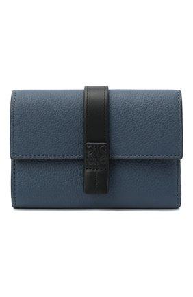Женские кожаное портмоне LOEWE синего цвета, арт. 124.12.S86   Фото 1