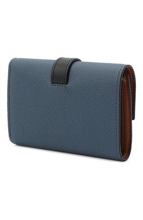 Женские кожаное портмоне LOEWE синего цвета, арт. 124.12.S86   Фото 2