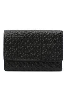Женские кожаное портмоне LOEWE черного цвета, арт. 107.55.S97   Фото 1