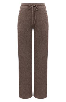 Женские кашемировые брюки ADDICTED коричневого цвета, арт. MK920   Фото 1