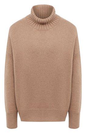 Женский свитер из смеси шерсти и кашемира ADDICTED коричневого цвета, арт. MK840 | Фото 1