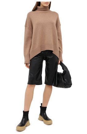 Женский свитер из смеси шерсти и кашемира ADDICTED коричневого цвета, арт. MK840 | Фото 2