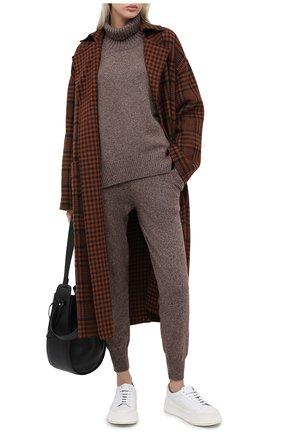 Женский свитер из смеси шерсти и кашемира ADDICTED темно-бежевого цвета, арт. MK840 | Фото 2