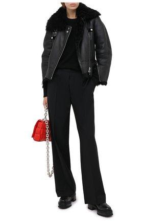 Женская дубленка ALEXANDER MCQUEEN черного цвета, арт. 633562/Q5AEU | Фото 2