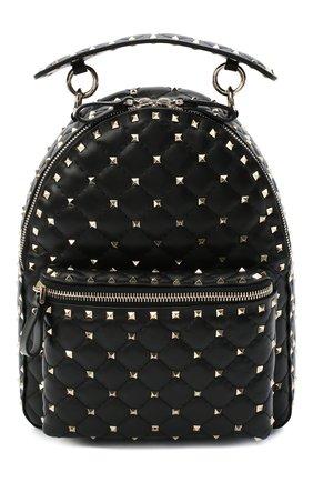 Женский рюкзак rockstud spike VALENTINO черного цвета, арт. UW2B0C48/NAP | Фото 1