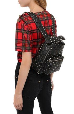 Женский рюкзак rockstud spike VALENTINO черного цвета, арт. UW2B0C48/NAP | Фото 2