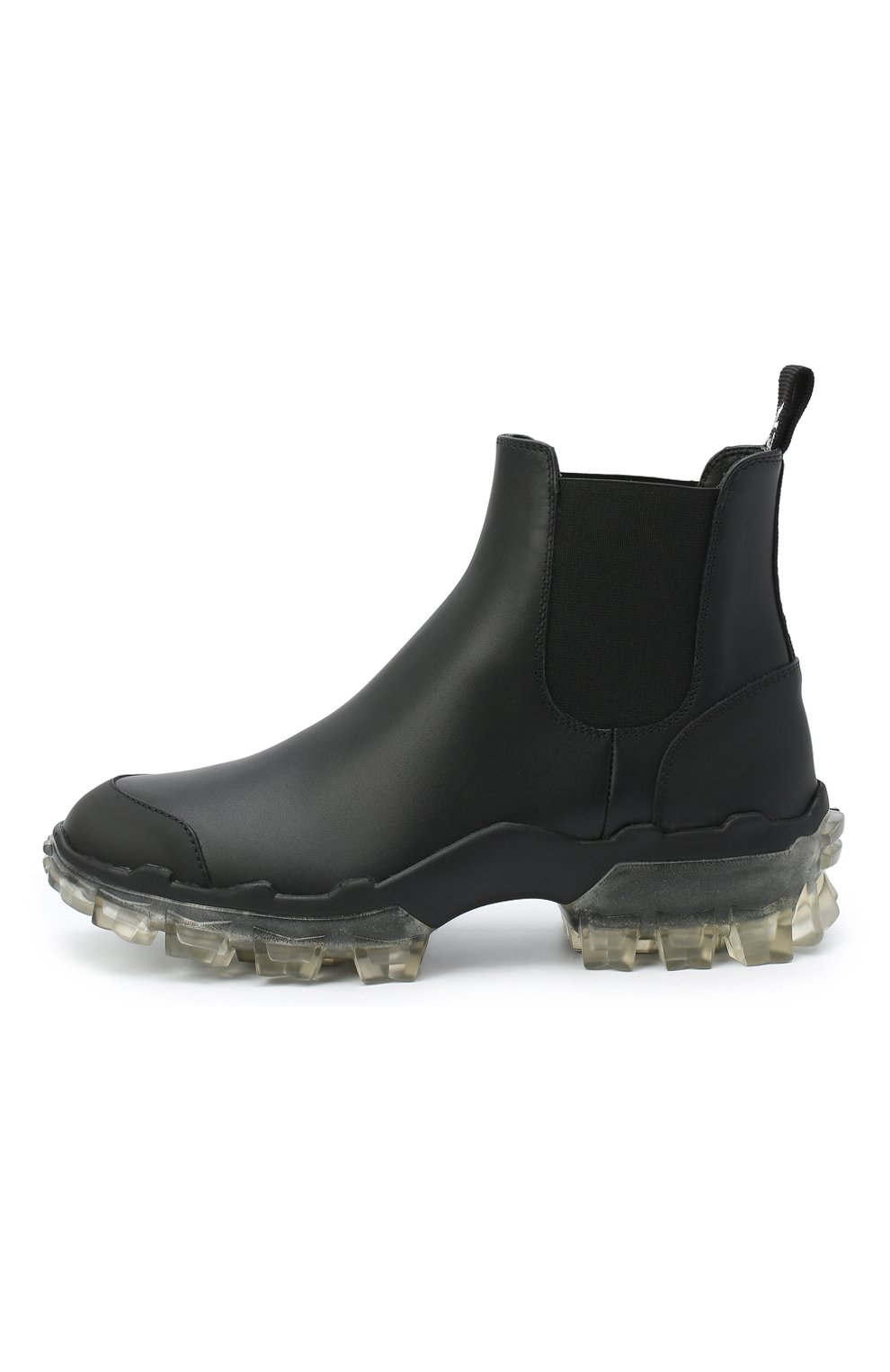 Женские кожаные  ботинки hanya MONCLER черного цвета, арт. F2-09B-4F701-00-02SFT   Фото 3