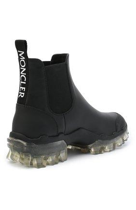 Женские кожаные  ботинки hanya MONCLER черного цвета, арт. F2-09B-4F701-00-02SFT   Фото 4
