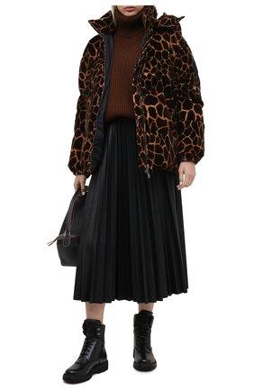 Женские кожаные ботинки patty MONCLER черного цвета, арт. F2-09B-4F705-00-019FA | Фото 2